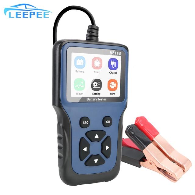 12V Automotive Auto Diagnostic Tool Car Charging Cricut Load Test V311B Car Battery Charger Tester Analyzer Tools