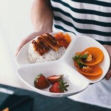 Японский разделенный поднос разделенная тарелка для завтрака для обеда ужина Heatable керамическая тарелка для домашнего отеля ресторана шуол