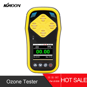 KKMOON Handheld Ozone Gas Analyzer Detector Portable Ozone Concentration Air Quality Monitor with Quick Sensing Multiple Alarms