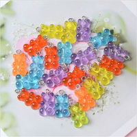 10/50Pcs Colorful Gummy Bear Pendant Charms for Necklace Bracelet Diy Earrings Jewelry Bears Valentine`s Day Gift 2.1*1.1cm