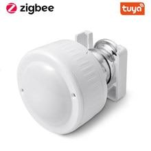 Tuya Zigbee Multi-Sensor 4 In 1 Smart Pir Motion Vochtigheid Licht Temperatuur Sensor Usb Lading Of Battery Operated