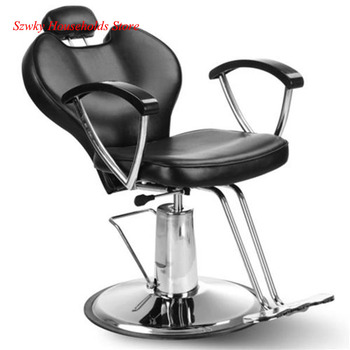 PVC leather HZ8712 Professional Portable Hydraulic Lift Man Barber Chair Black Free Shipping - discount item  1% OFF Commercial Furniture