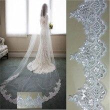 3 метра длиной 15 метров вуаль невесты кружева блестящее свадебное платье