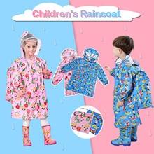 Raincoat Toddler Girl Waterproof Fashion Kid Cartoon Jumpsuit Romper Dinosaur Boy Boy