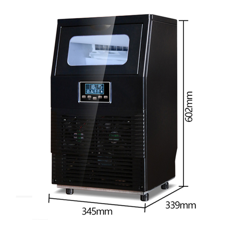 40KG/24H Ice Maker Commercial Ice Machine Automatic Ice Cube Making Machine Suit For Milk Tea Hotel 220v