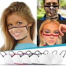 Bufanda de tubo de protección facial para acampar, senderismo, sin costuras, para deportes al aire libre, bufanda mágica transparente, transpirable, lavable, reutilizable
