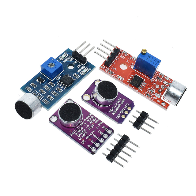 Selling Sound sensor module sound control sensor MAX4466 MAX9814switch detection whistle switch microphone amplifier For Arduino 3