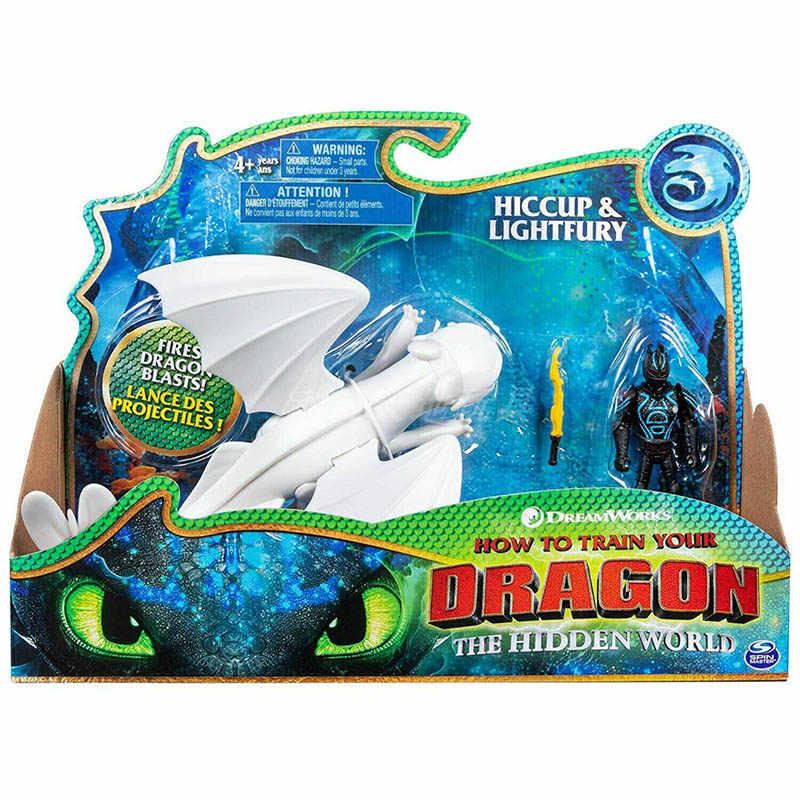 SPIN MASTER original Ação Figuras de Brinquedo Como treinar O Seu Dragão 3 Luzes Da Noite com Funcional Cartão de Boneca Conjunto de Brinquedos presente
