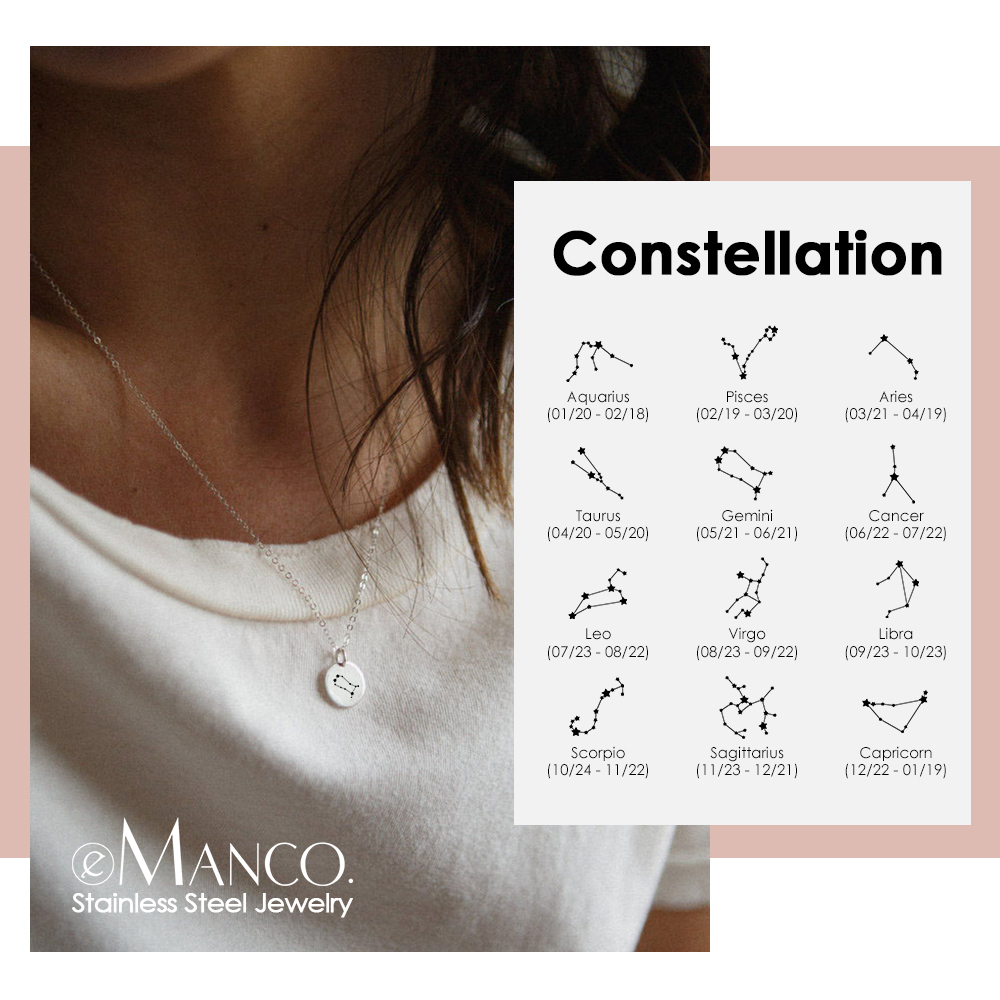 EManco Trendy Gold Color 316L Necklace Women Personalized Bestfriend Necklace Dainty Minimalist Necklace Jewellery