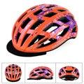 KINGBIKE MTB велосипедный шлем с кепкой Маутейн дорожный велосипедный шлем женский цветочный велосипедный шлем для катания на коньках оранжевый...