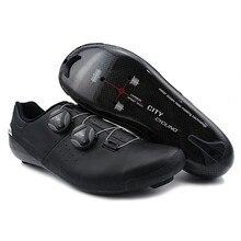 Heatmoldable Carbon Fietsen Road Schoenen Pro Twee Veters Zelfsluitende Fiets Ademende Riding Boot Mannen Vrouwen Originele Stad