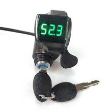 1pc 12V/24V/36V/48V/60V/72V Throttle Ebike With Battery Power Display Thumb Grips