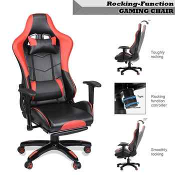 Game Office Chair Computer Desk 360 Degree Rotating With Armrest Height Adjustable Reclining Telescopic Chair With Backrest - DISCOUNT ITEM  10 OFF Furniture