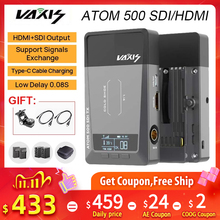 Vaxis ATOM 500 SDI HDMIเกียร์สำหรับกล้องIpadไร้สายภาพวิดีโอ1080P HDตัวรับสัญญาณVS Hollyland Mars 400S