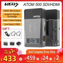 Vaxis transmisor receptor ATOM 500 SDI HDMI, para cámara, Ipad, imagen inalámbrica de vídeo 1080P HD, VS Hollyland mars 400S