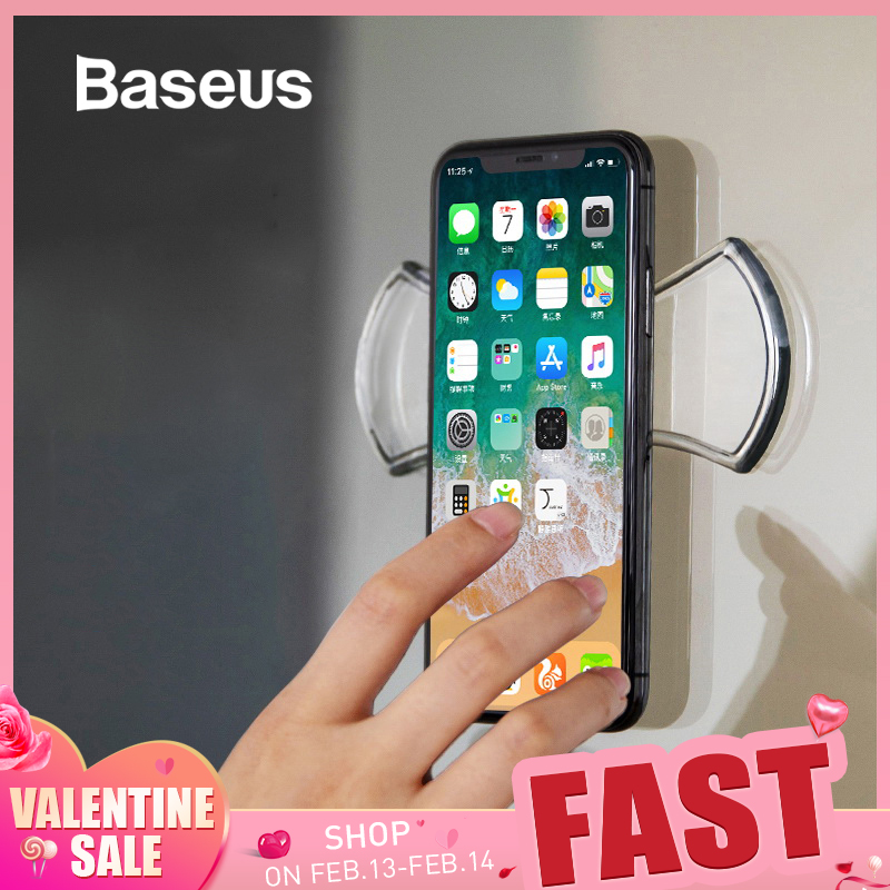 Baseus Universal Mobile Phone Holder For IPhone Tablet Car Phone Holder Strong Adsorption Wall Desk Sticker Paste Holder Stand
