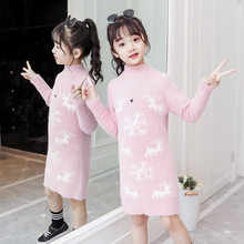 Get more info on the Teenage Girls New Year Sweater with Deer Baby Snowflake Christmas Long Knitted Sweater Dress High Quality Princess Girl Knitwear