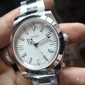 Мужские Роскошные часы aaa с белым циферблатом 2813  автоматические механические часы AIR KING  спортивные часы  модные наручные часы