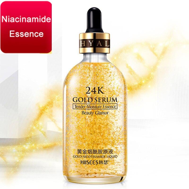 LAIKOU suero facial de oro de 24 quilates, crema de esencia blanqueadora, suero de ácido hialurónico, hidratante, Cremas de día, antiedad, antiarrugas, cuidado de la piel|Suero| - AliExpress