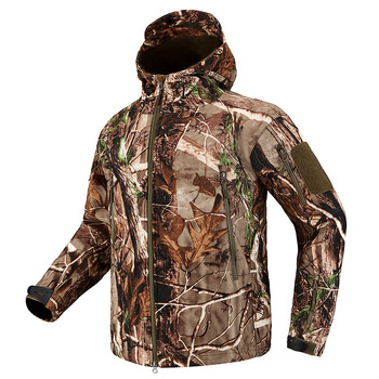 Winter TAD Tactical Softshell Camouflage Jacket Men Shark Skin Army Camo Windbreaker Waterproof Hunting Clothes Military Jackets 1