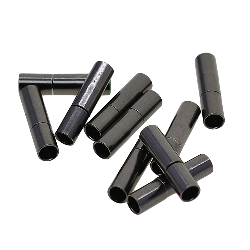10 Sets 3mm Bayonet Push Clasp Leather Cord Ends Kumihimo Connector Findings