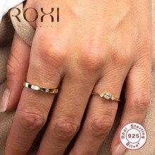 Roxi Eenvoudige Anijs Ster Zirkoon Stenen Ring Vrouwen Goud Zilver Ring Bijoux Femme 925 Sterling Zilveren Ringen Voor Vrouwen Bruiloft sieraden