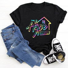 2020 Tops Tees Women T Shirt Clothing Hype House Print Short Sleeve Women's T-shirts Summer Brand Tee Shirt Streetwear Female(China)