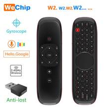 Wechip – Mini clavier W2 avec pavé tactile, 2.4G, sans fil, Fly Air Mouse, télécommande vocale, pour boîtier Tv, Mini Pc, Tv PK Wechip W1
