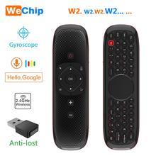 Wechip W2 Mini klawiatura z panel dotykowy mysz 2.4G bezprzewodowy odpowiednio zaplanować podróż Air Mouse z pilotem dla Tv, pudełko/Mini Pc/Tv PK Wechip W1