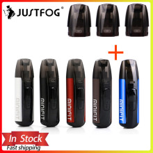 Justfog minifit Starter Kit 370mAh vape mini starter kit & Newest Minifit Ceramic Pod 1.5ml capacity Pod E cigarette vape kit