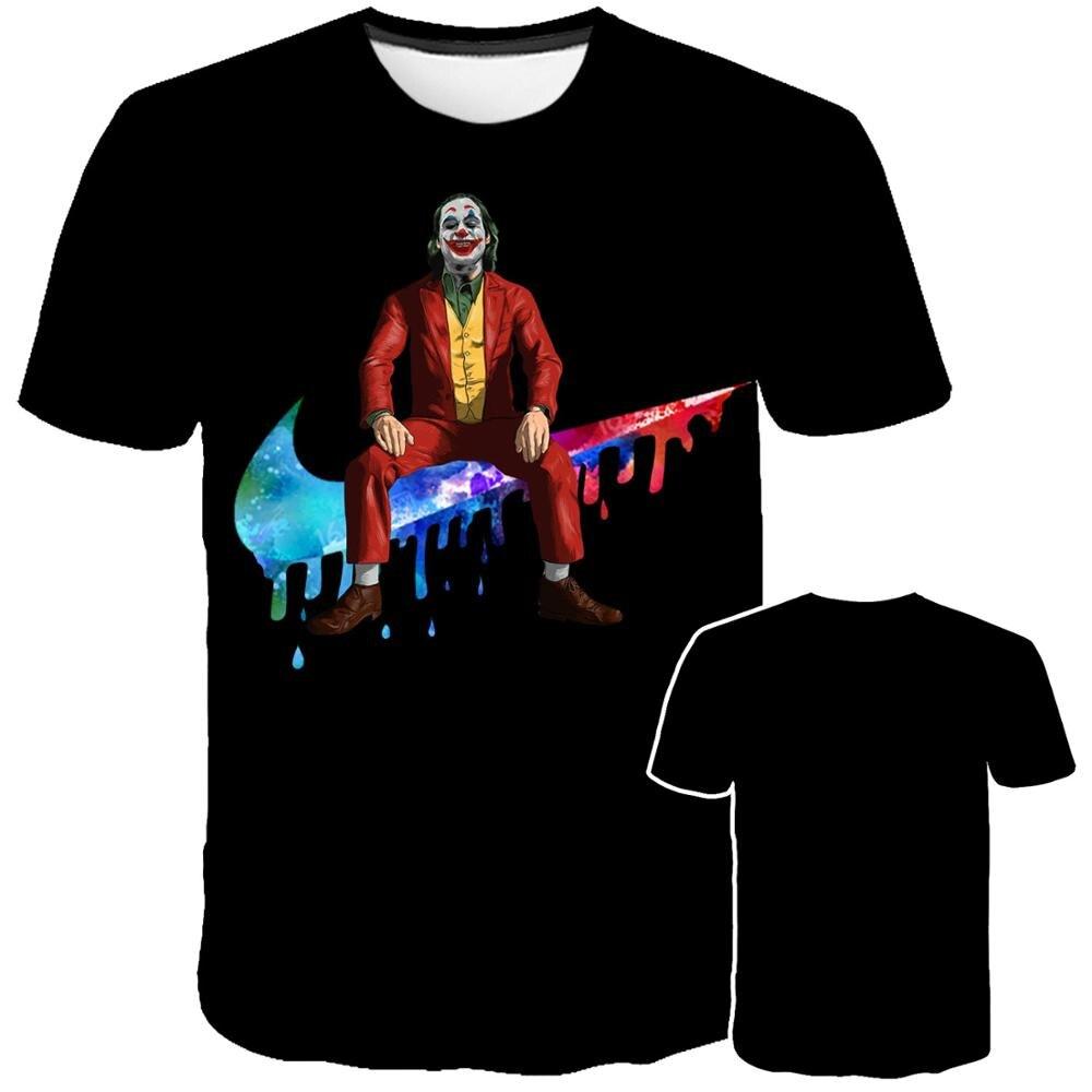 2020 New Hot Sale Clown T Shirt Men/women Joker Face 3D Printed Terror Fashion T-shirts Do What You Want To Do