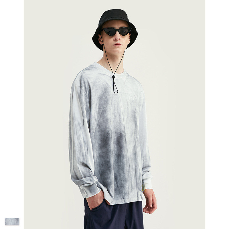 Cooo Coll Men Women Long sleeve Washed Distressed Embroidery Harajuku Undershirt Kanye West Funny t Shirt Tops Men Clothes Tee in T Shirts from Men 39 s Clothing