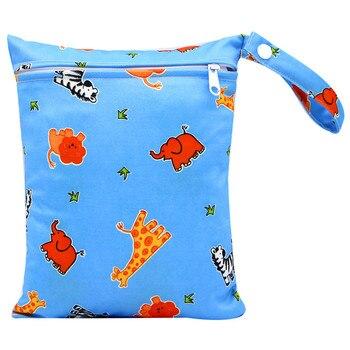 20*25cm Mini Diaper Wet Bag Single Pocket Zipper Baby Bags For Mom Maternity Travel Stroller Bag PUL Nappy Diaper Bag Wetbag - AS-MB-07