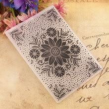 Background Sun flower Decoration Plastic Embossing Folder For Scrapbook DIY Album Card Tool Plastic Template 0461