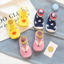 knitted baby shoes for toddler boys infant baby booties toddler girls shoes first step soft rubber sole prewalker fox duck stars
