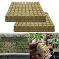 50 шт. незапятнанный Plantin губка посадки расти желтым стартер кубики Rockwool медиа распространение клонирования из минеральной ваты кубики ...