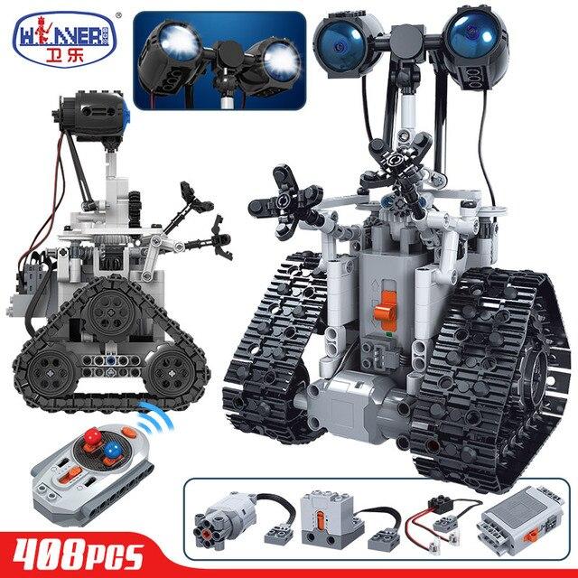 ERBO Creative Remote Control Electric Intelligent Robot Building Blocks Technic MOC RC Robot Bricks Toys For Children