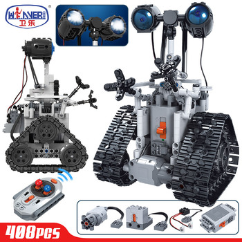 ERBO Creative Remote Control Electric Intelligent Robot Building Blocks Technic MOC RC Robot Bricks Toys For Children