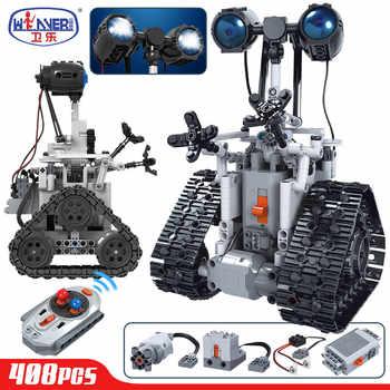 ERBO créatif télécommande électrique Intelligent Robot blocs de construction technique MOC RC Robot briques jouets pour enfants