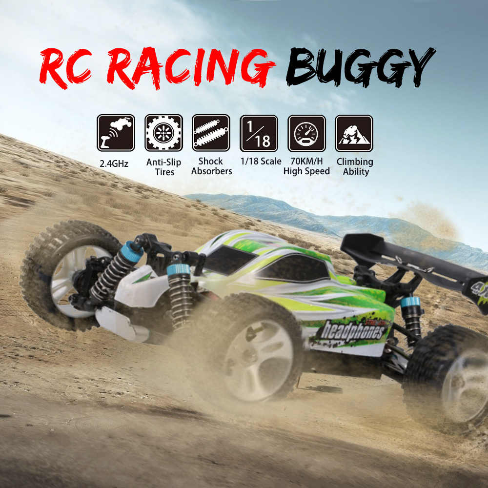WLtoys A959-B A959 959-A RC Auto 1:18 2.4GHz 4WD Rally Racing Auto 70 KM/H Hoge Snelheid Voertuig RC Racing auto voor Kids Volwassenen