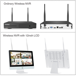 Image 2 - Kit NVR sans fil 8CH Plug and Play 12 pouces LCD NVR 1080P HD caméra de sécurité IP anti vandalisme Vision nocturne système de vidéosurveillance WIFI