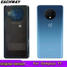 Original para oneplus 7t traseira de vidro capa habitação substituição traseira porta bateria para oneplus 1 + 7t com lente da câmera