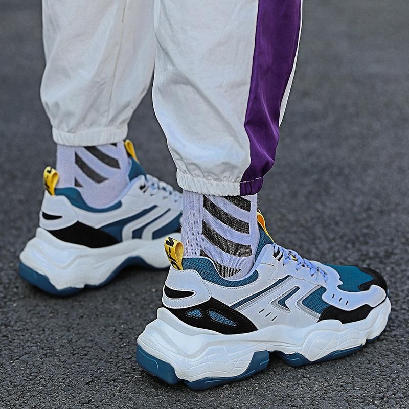 Men's Casual Shoes Non-slip Walking Shoes Men Zapatos De Hombre Thick Bottom Daddy Shoes Sneakers Men Tenis Masculino Adulto