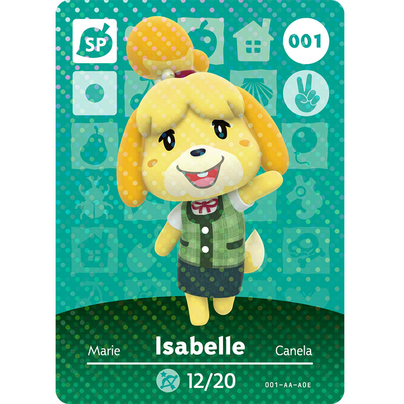 001 Isabelle Animal Crossing Card NFC Invitation Cards For Switch NS 3DS Animal Crossing Amiibo Card Figures Cards New Horizons