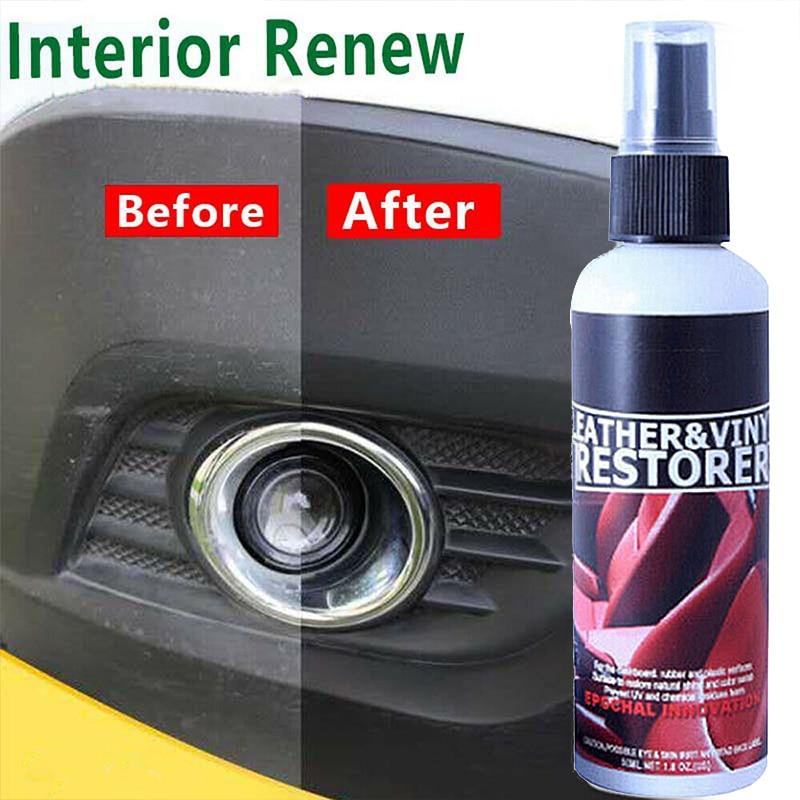 30ml Retreading Agent Plastic Parts Leather Wax Cleaner Car Maintenance Care Automotive Interior Renovation Wax Car Accessories