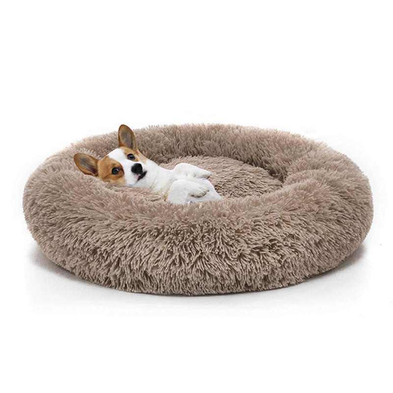 Warm Fleece Dog Bed 7 Sizes Round Pet Lounger Cushion For Small Medium Large Dogs & Cat Winter Dog Kennel Puppy Mat Pet Bed