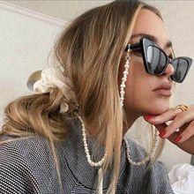 New 70cm Irregular Imitation Pearls Masked Sunglasses Glasses Chain Women Non-slip Beaded Eyewear Holder Neck Strap Rope Lanyard