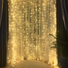 Party-Lights Strip Garlands Fairy Curtain Christmas-Decorative Holiday Wedding Outdoor