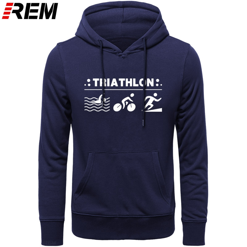 REM Harajuku New Ironman Triathlon Finisher Cycle Runer Swimer Printed Boutique Men Casual Unisex Tops Hoodies, Sweatshirts