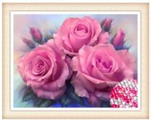 DIY Алмаз живописи цветок вышивки крестом Кристалл круглый устанавливает незавершенные полный вышивки